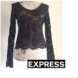 NWT Express Black dressy Top